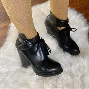 Alexander Wang Leather Lace Up Booties
